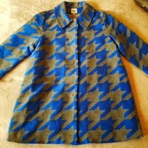 ⭐HOST PICK⭐LUII Blue & Grey Abstract Geometric Print  Midi Jacket